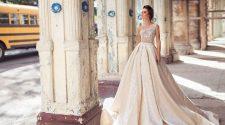 Brautmode & Brautkleider von Neuer Trend: Metallic Details